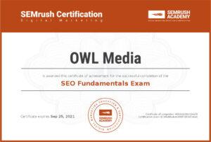 Сертификат SEMrush SEO основы